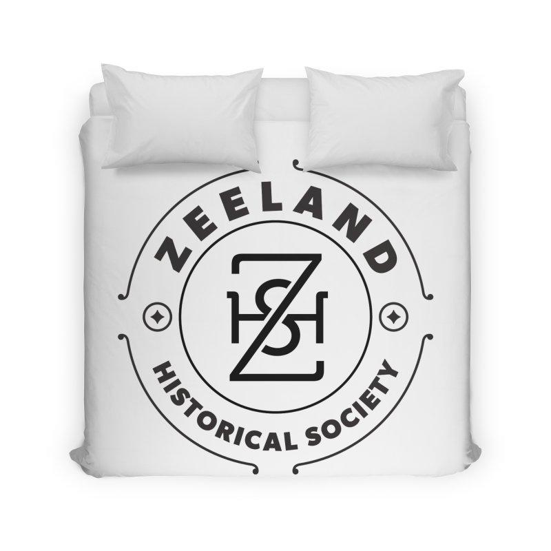 ZHS Circle Monogram Home Duvet by Zeeland Historical Society's Online Store