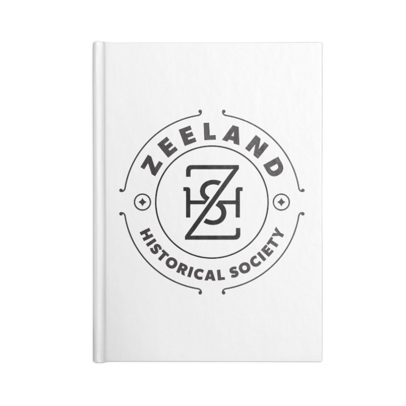 ZHS Circle Monogram Accessories Blank Journal Notebook by Zeeland Historical Society's Online Store