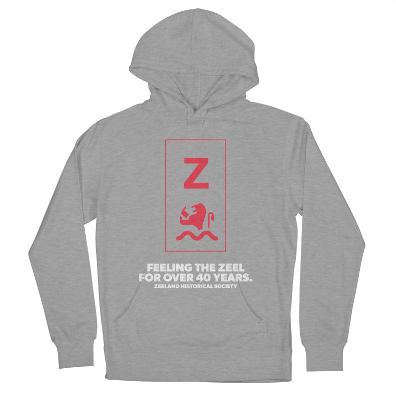 Feeling the Zeel (reversed) Men's French Terry Pullover Hoody by Zeeland Historical Society's Online Store