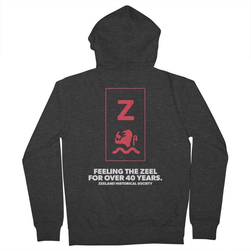 Feeling the Zeel (reversed) Women's French Terry Zip-Up Hoody by Zeeland Historical Society's Online Store