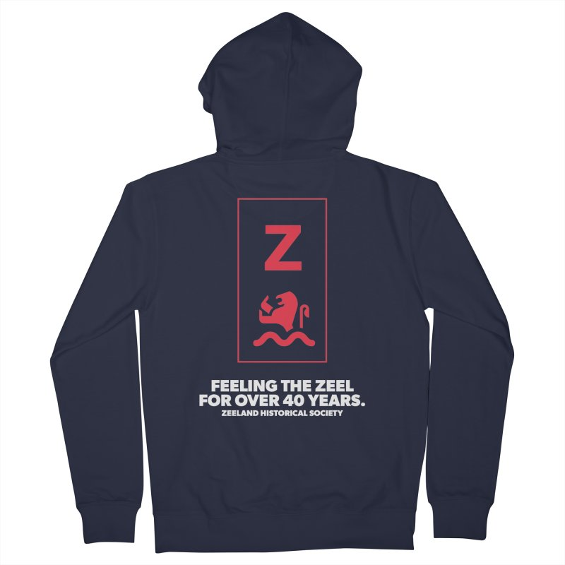 Feeling the Zeel (reversed) Women's French Terry Zip-Up Hoody by Zeeland Historical Society's Online Store