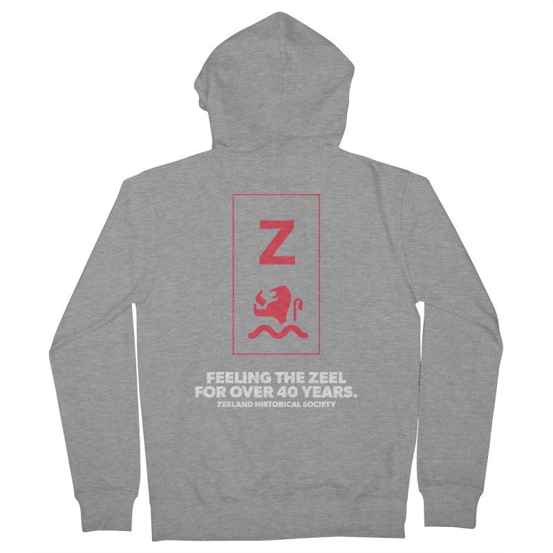 Feeling the Zeel (reversed) Men's French Terry Zip-Up Hoody by Zeeland Historical Society's Online Store