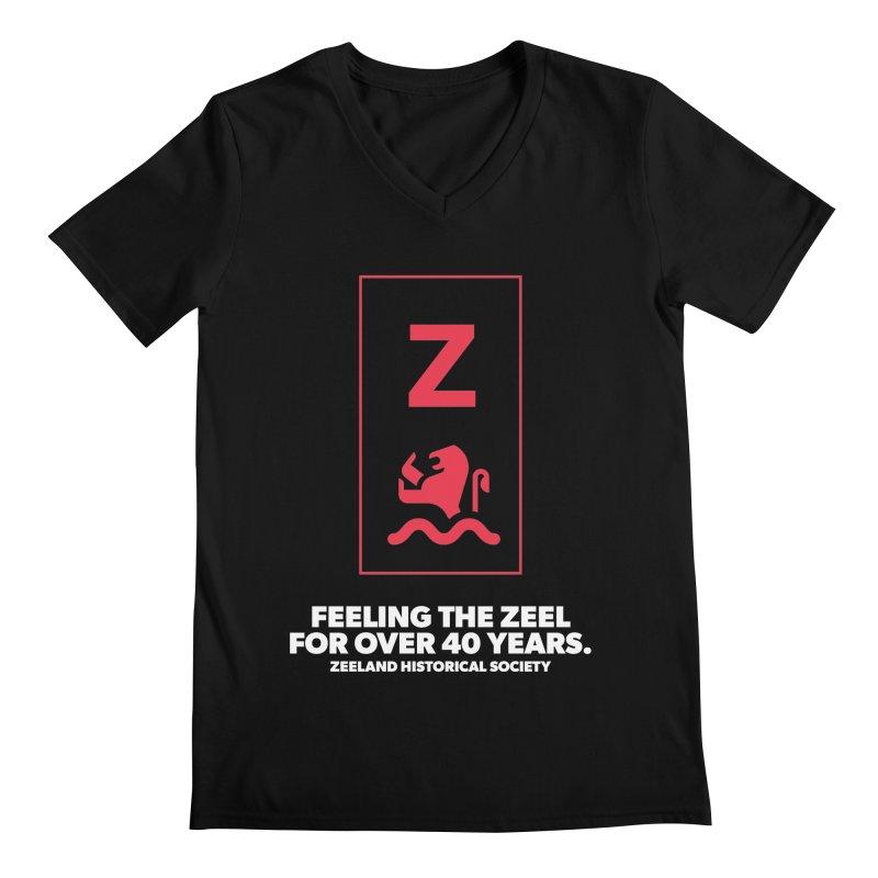 Feeling the Zeel (reversed) Men's Regular V-Neck by Zeeland Historical Society's Online Store