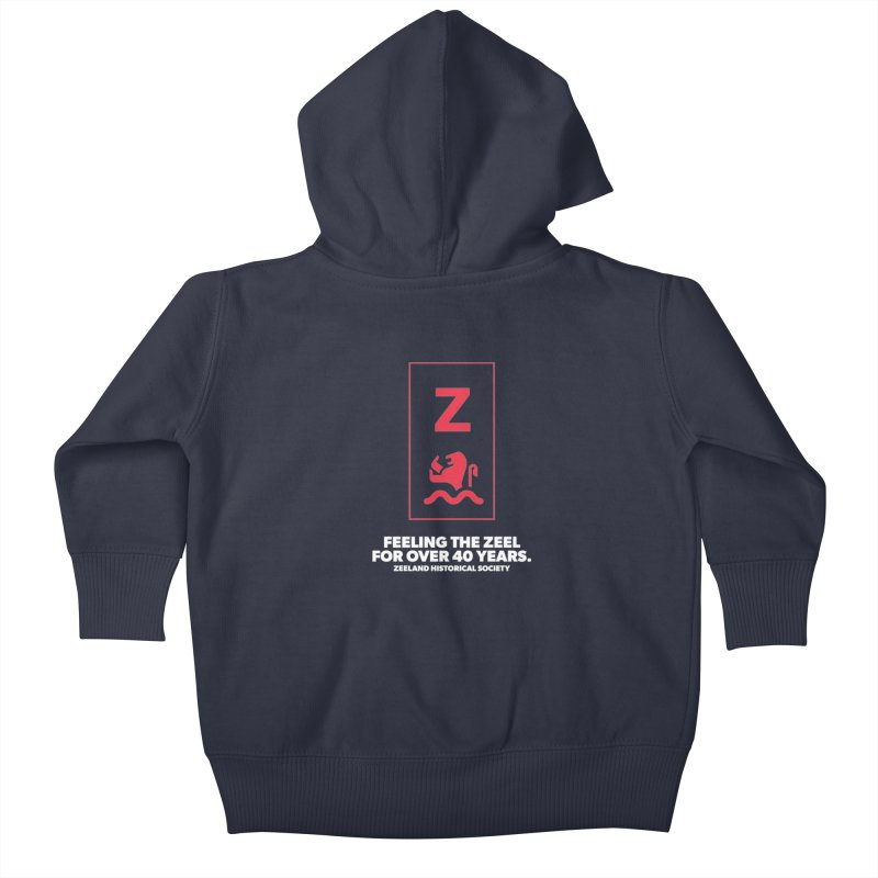 Feeling the Zeel (reversed) Kids Baby Zip-Up Hoody by Zeeland Historical Society's Online Store