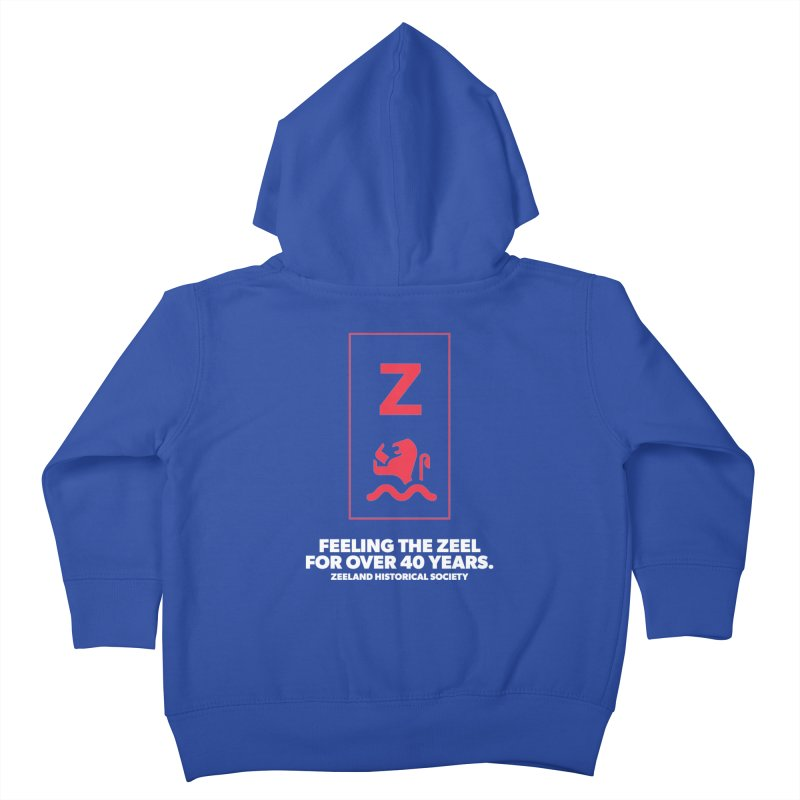 Feeling the Zeel (reversed) Kids Toddler Zip-Up Hoody by Zeeland Historical Society's Online Store
