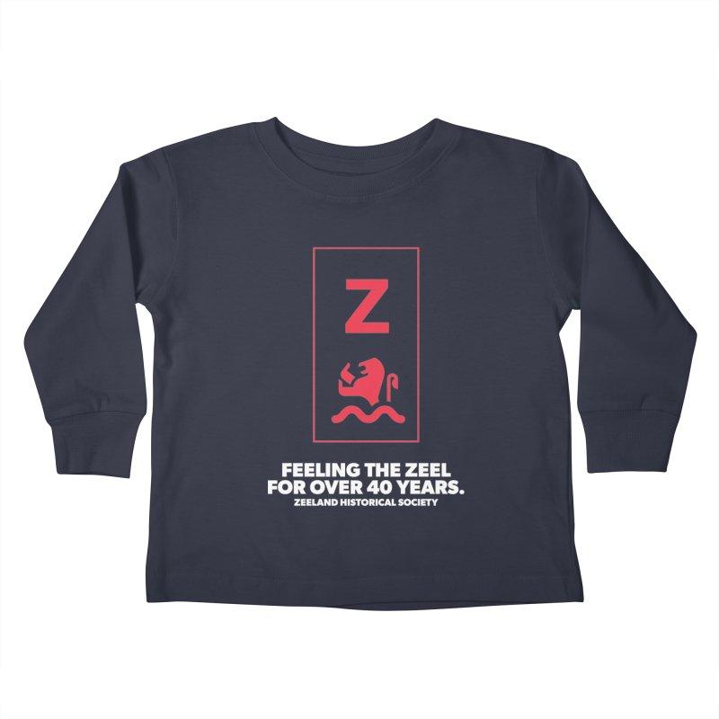 Feeling the Zeel (reversed) Kids Toddler Longsleeve T-Shirt by Zeeland Historical Society's Online Store