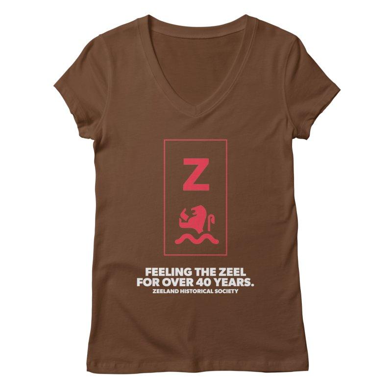 Feeling the Zeel (reversed) Women's Regular V-Neck by Zeeland Historical Society's Online Store