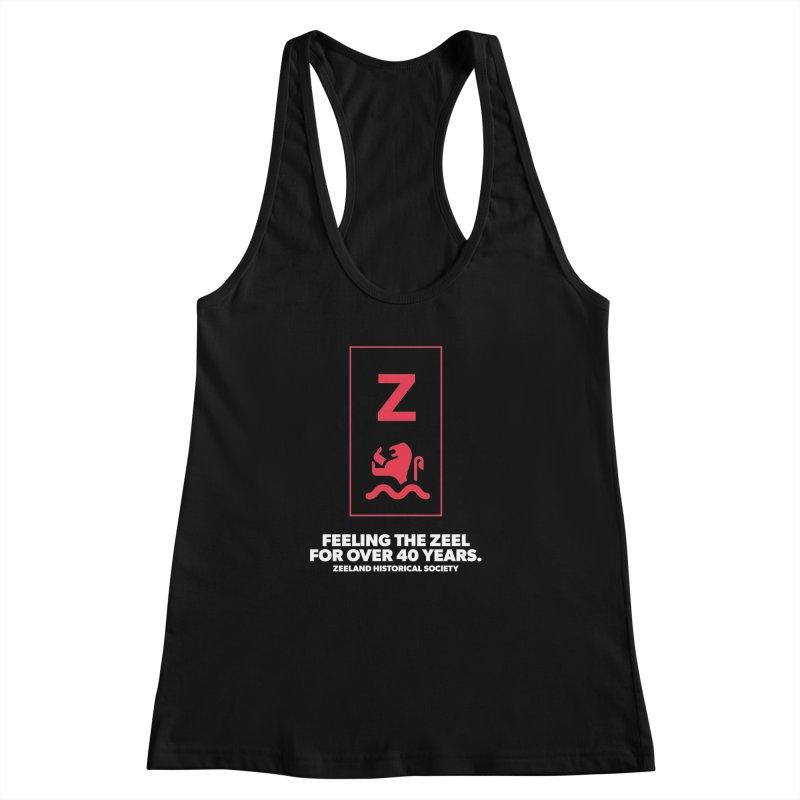 Feeling the Zeel (reversed) Women's Racerback Tank by Zeeland Historical Society's Online Store