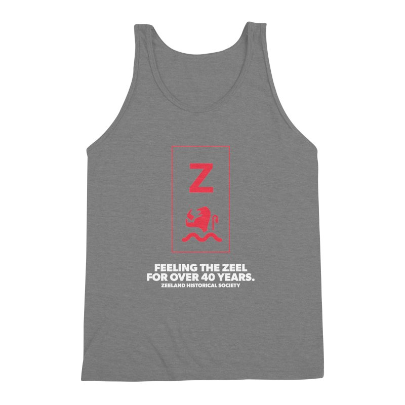 Feeling the Zeel (reversed) Men's Triblend Tank by Zeeland Historical Society's Online Store