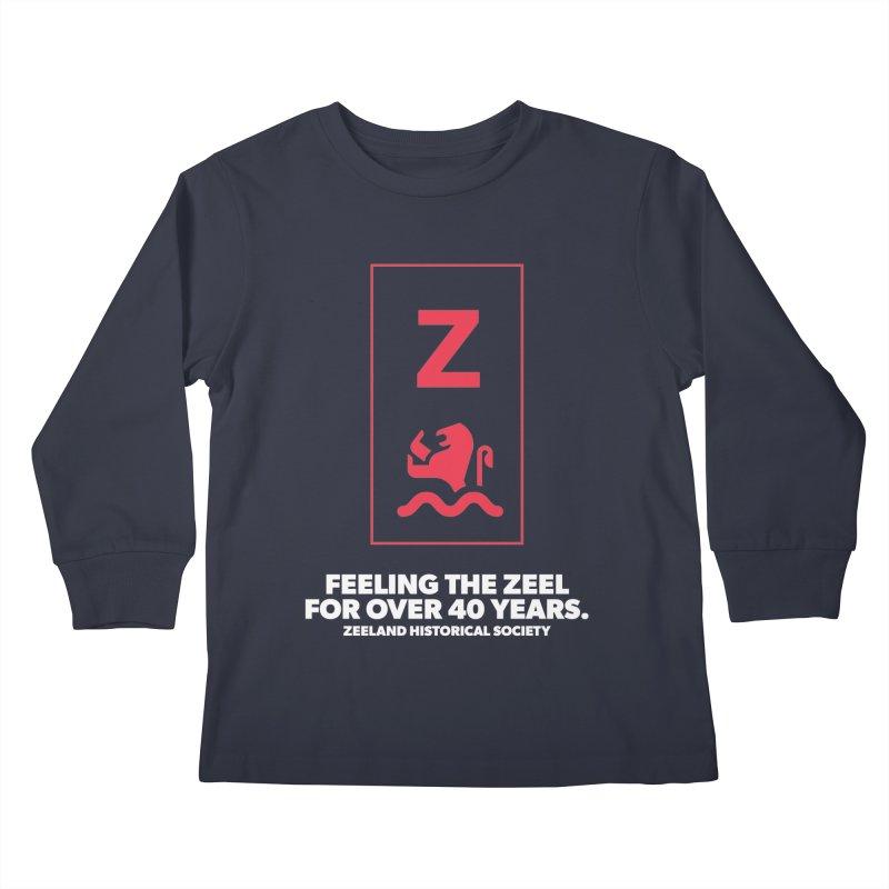 Feeling the Zeel (reversed) Kids Longsleeve T-Shirt by Zeeland Historical Society's Online Store