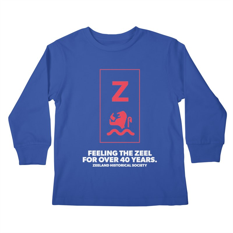 Feeling the Zeel (reversed) Kids Longsleeve T-Shirt by Zeeland Historical Society's Online Store