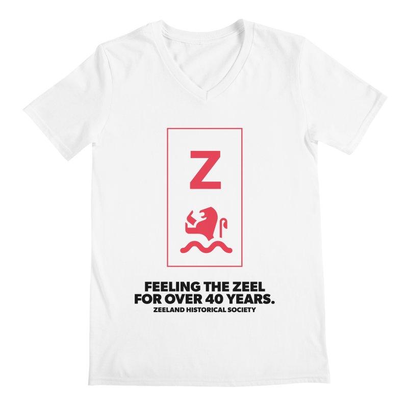 Feeling the Zeel Men's Regular V-Neck by Zeeland Historical Society's Online Store