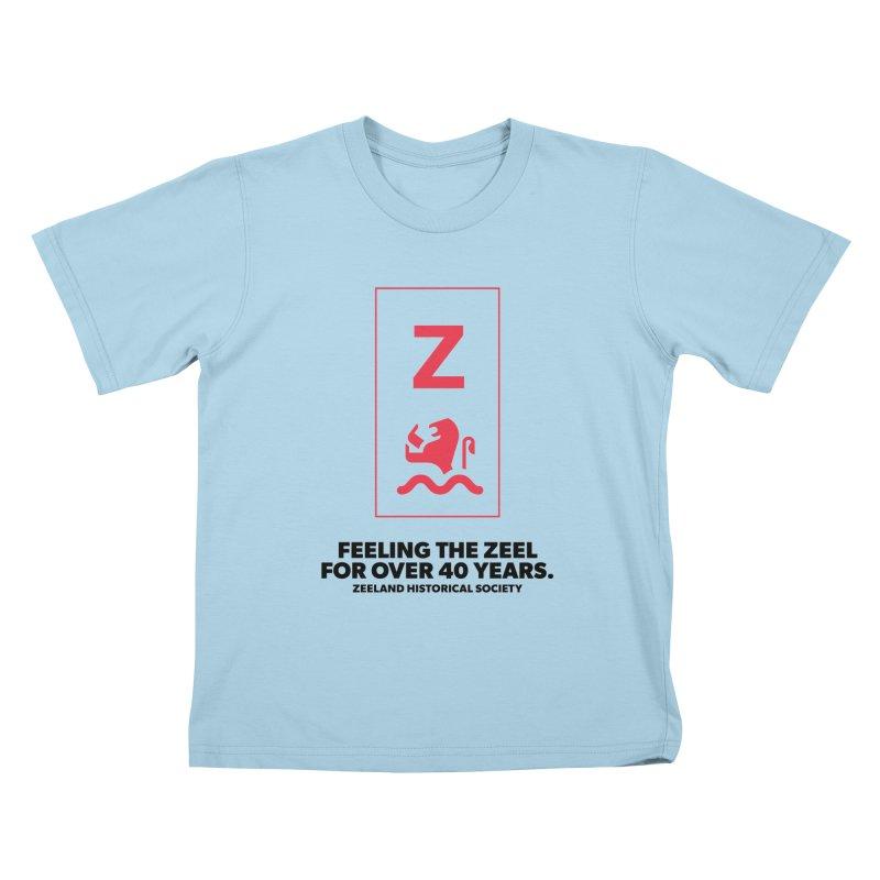 Feeling the Zeel Kids T-Shirt by Zeeland Historical Society's Online Store