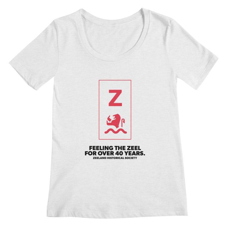 Feeling the Zeel Women's Regular Scoop Neck by Zeeland Historical Society's Online Store