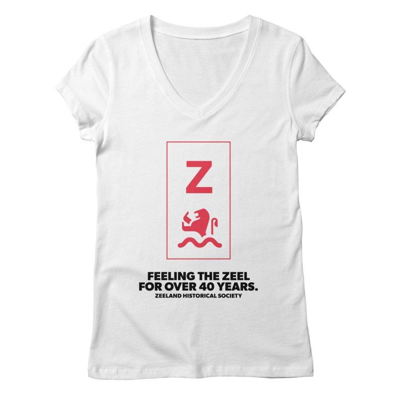 Feeling the Zeel Women's Regular V-Neck by Zeeland Historical Society's Online Store