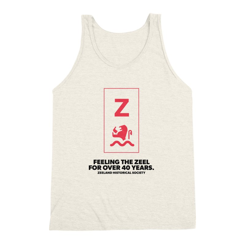 Feeling the Zeel Men's Triblend Tank by Zeeland Historical Society's Online Store