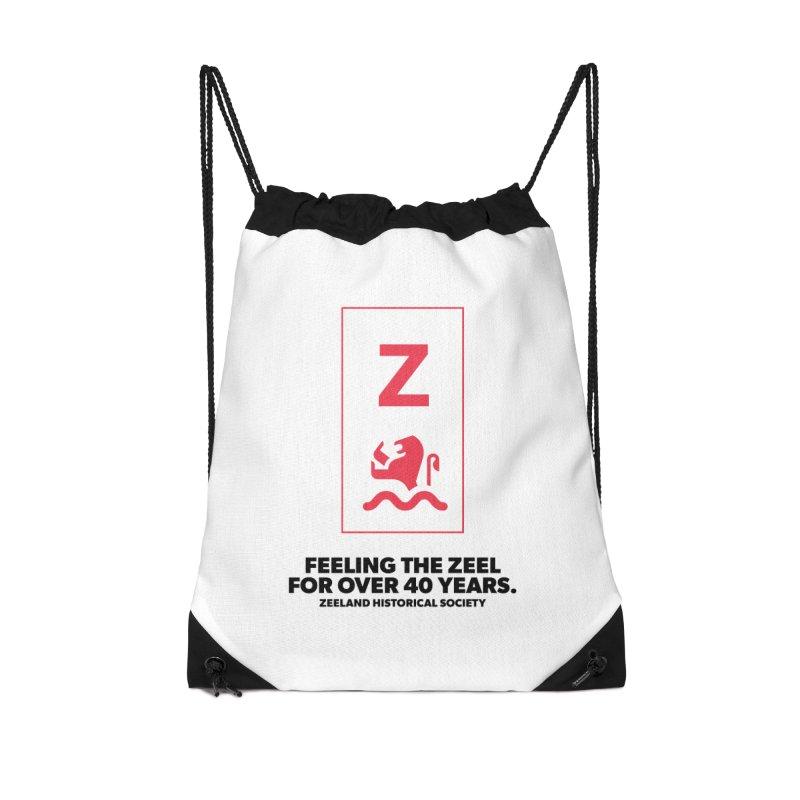 Feeling the Zeel Accessories Drawstring Bag Bag by Zeeland Historical Society's Online Store