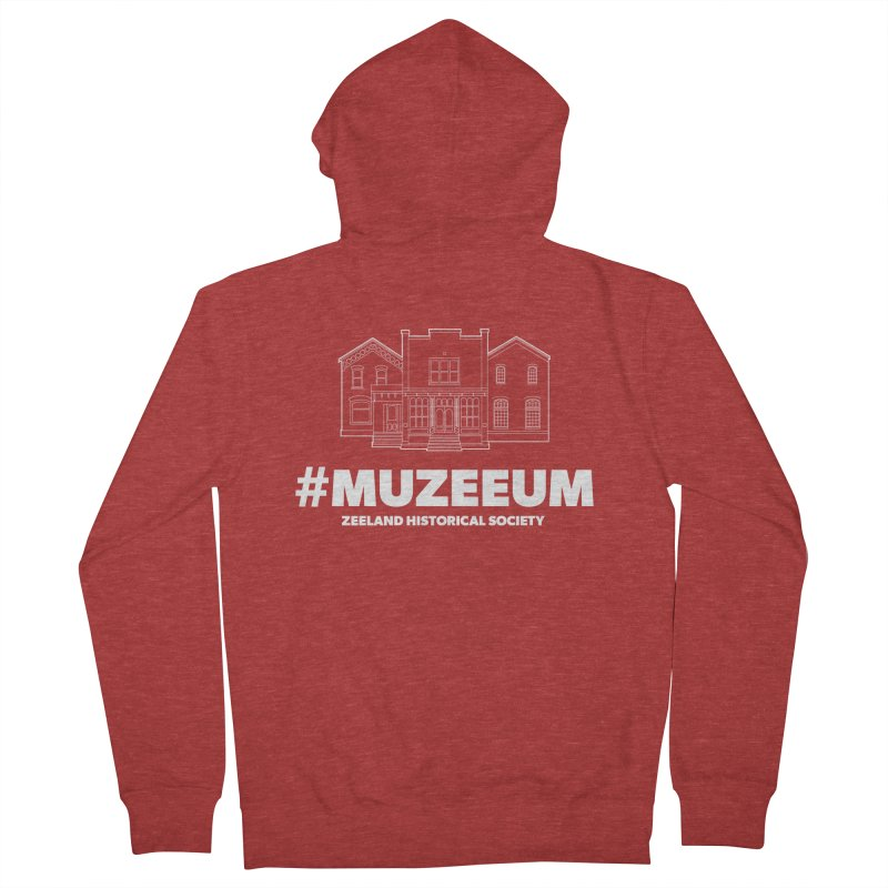 ZHS #muzeeum (reversed) Women's French Terry Zip-Up Hoody by Zeeland Historical Society's Online Store