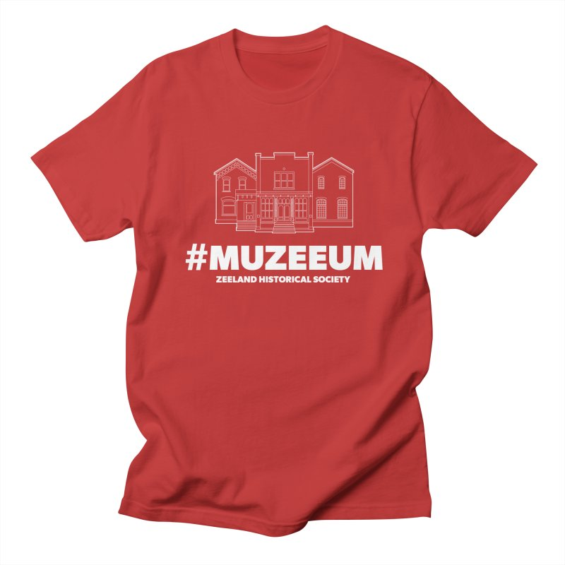 ZHS #muzeeum (reversed) Men's Regular T-Shirt by Zeeland Historical Society's Online Store