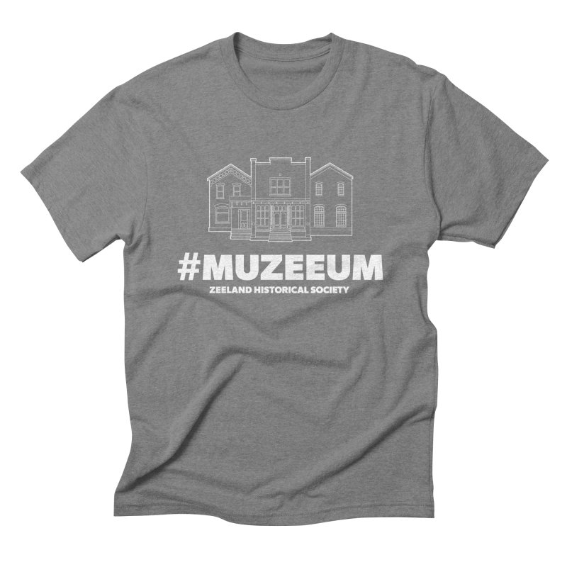 ZHS #muzeeum (reversed) Men's Triblend T-Shirt by Zeeland Historical Society's Online Store