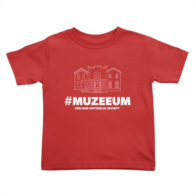 ZHS #muzeeum (reversed) Kids Toddler T-Shirt by Zeeland Historical Society's Online Store