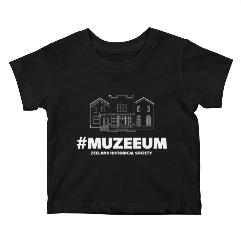 ZHS #muzeeum (reversed) Kids Baby T-Shirt by Zeeland Historical Society's Online Store