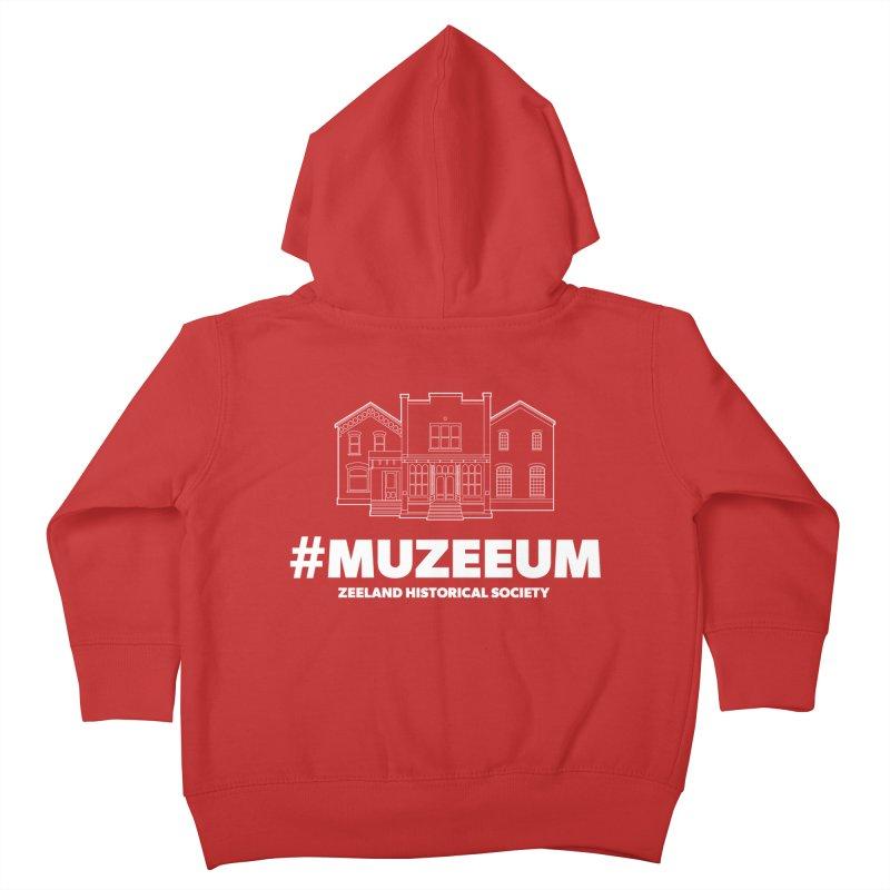 ZHS #muzeeum (reversed) Kids Toddler Zip-Up Hoody by Zeeland Historical Society's Online Store