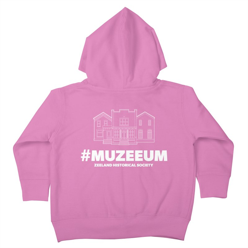 ZHS #muzeeum (reversed) Kids Toddler Zip-Up Hoody by Zeeland Historical Society's Online Store