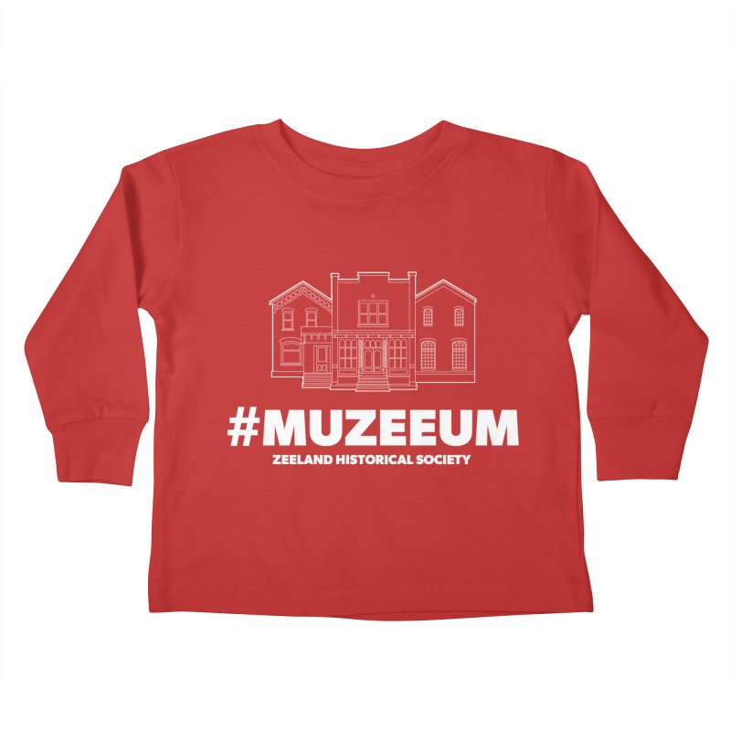 ZHS #muzeeum (reversed) Kids Toddler Longsleeve T-Shirt by Zeeland Historical Society's Online Store