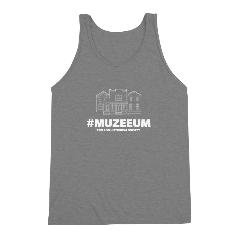 ZHS #muzeeum (reversed) Men's Triblend Tank by Zeeland Historical Society's Online Store