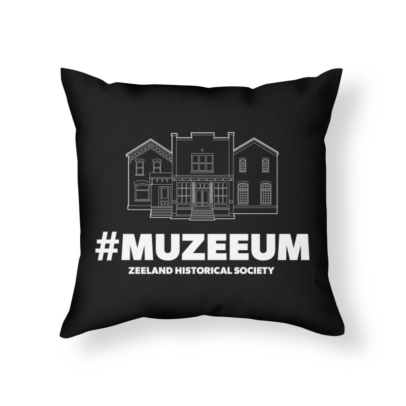 ZHS #muzeeum (reversed) Home Throw Pillow by Zeeland Historical Society's Online Store
