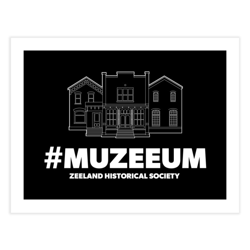 ZHS #muzeeum (reversed) Home Fine Art Print by Zeeland Historical Society's Online Store