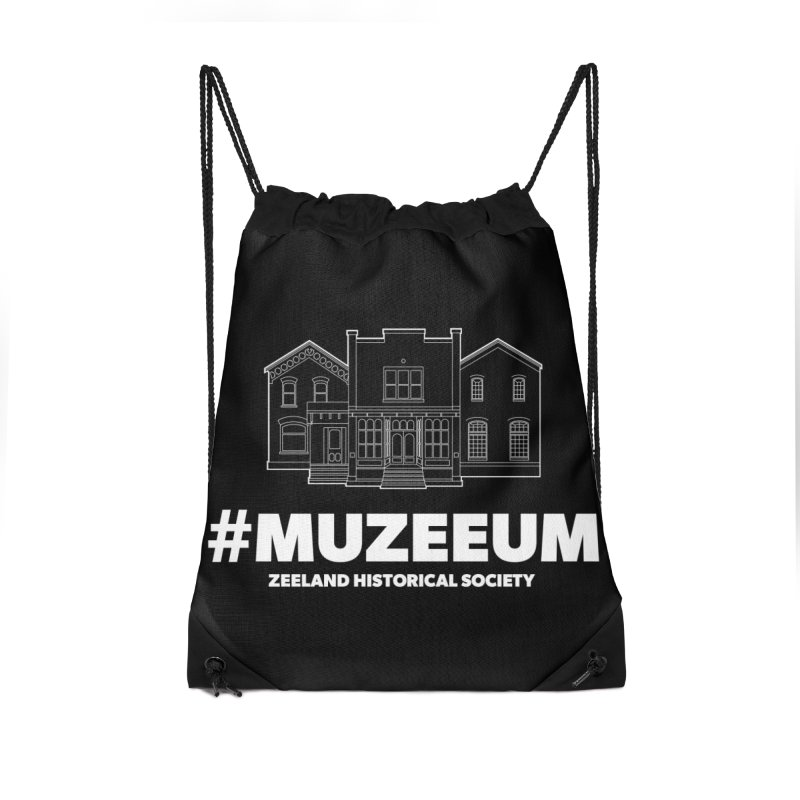 ZHS #muzeeum (reversed) Accessories Drawstring Bag Bag by Zeeland Historical Society's Online Store
