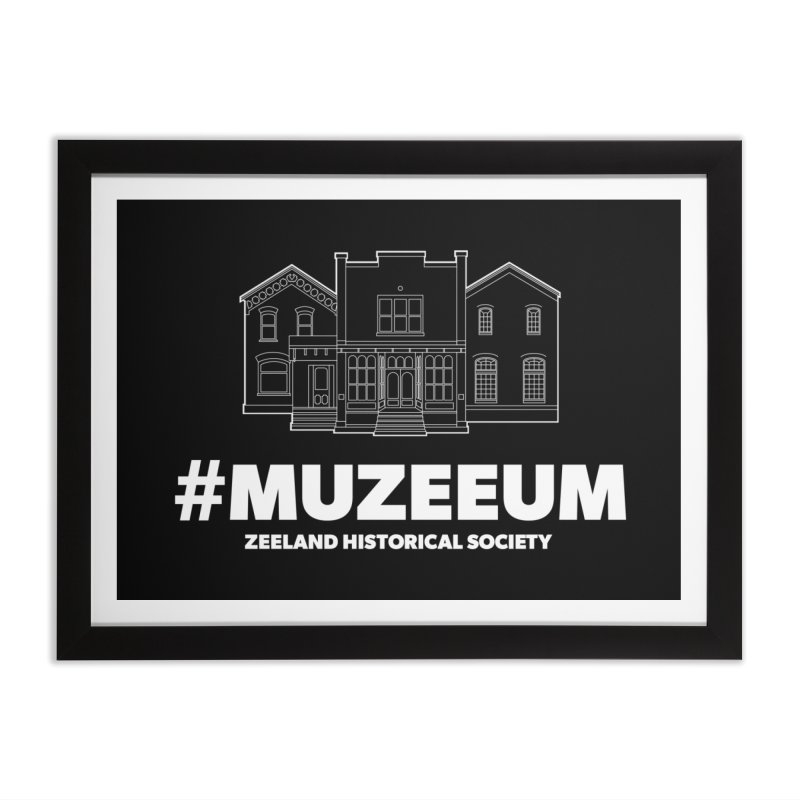 ZHS #muzeeum (reversed) Home Framed Fine Art Print by Zeeland Historical Society's Online Store