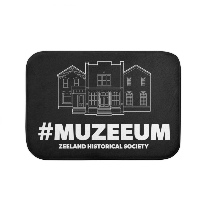 ZHS #muzeeum (reversed) Home Bath Mat by Zeeland Historical Society's Online Store
