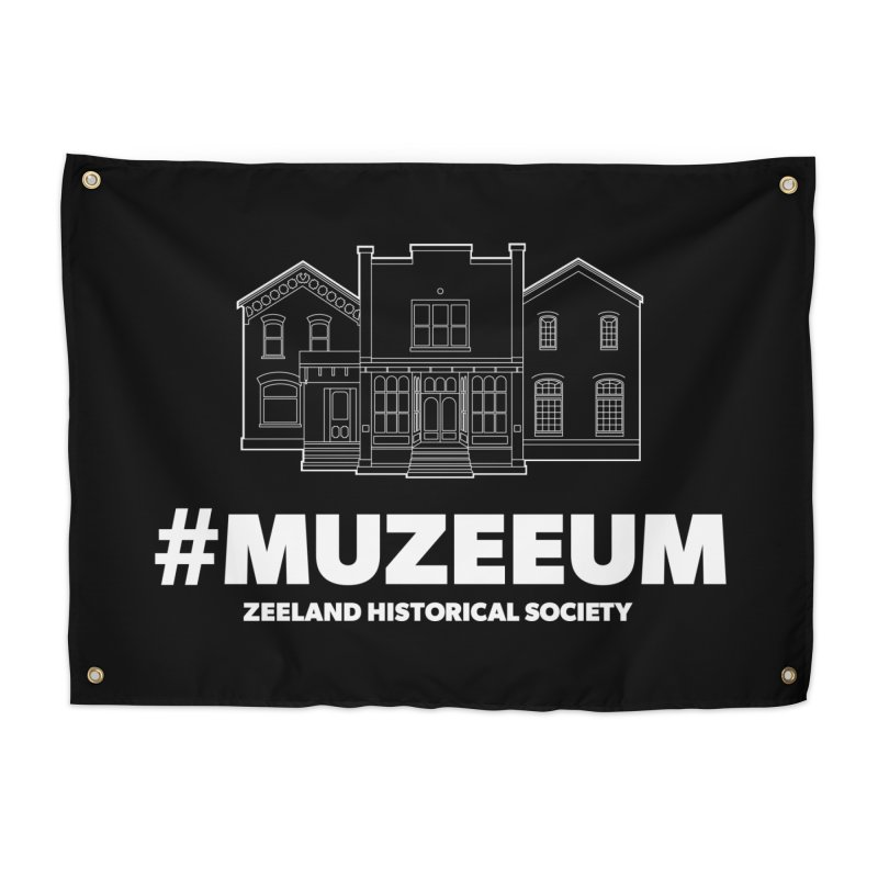 ZHS #muzeeum (reversed) Home Tapestry by Zeeland Historical Society's Online Store