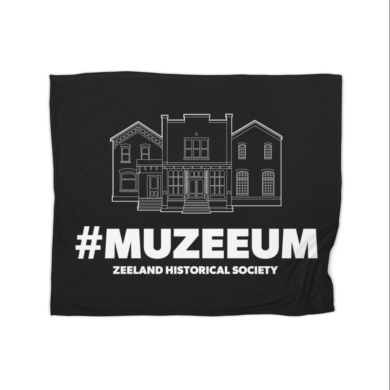 ZHS #muzeeum (reversed) Home Fleece Blanket Blanket by Zeeland Historical Society's Online Store