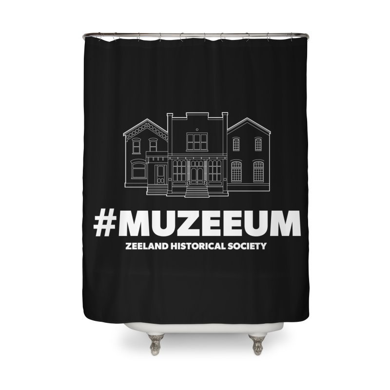 ZHS #muzeeum (reversed) Home Shower Curtain by Zeeland Historical Society's Online Store