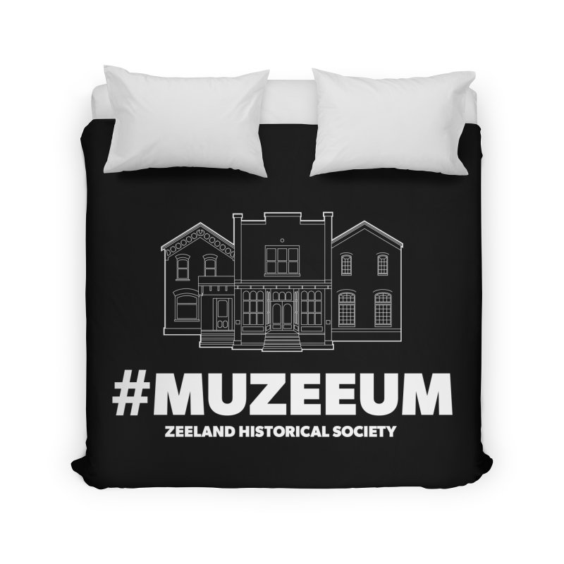 ZHS #muzeeum (reversed) Home Duvet by Zeeland Historical Society's Online Store