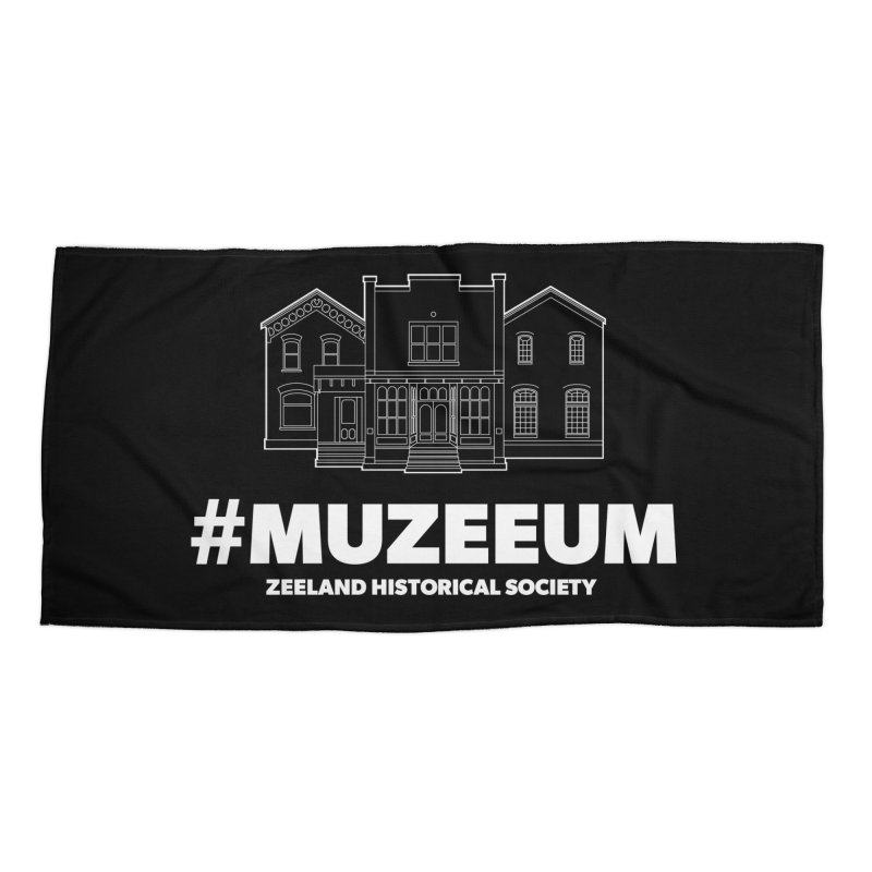 ZHS #muzeeum (reversed) Accessories Beach Towel by Zeeland Historical Society's Online Store