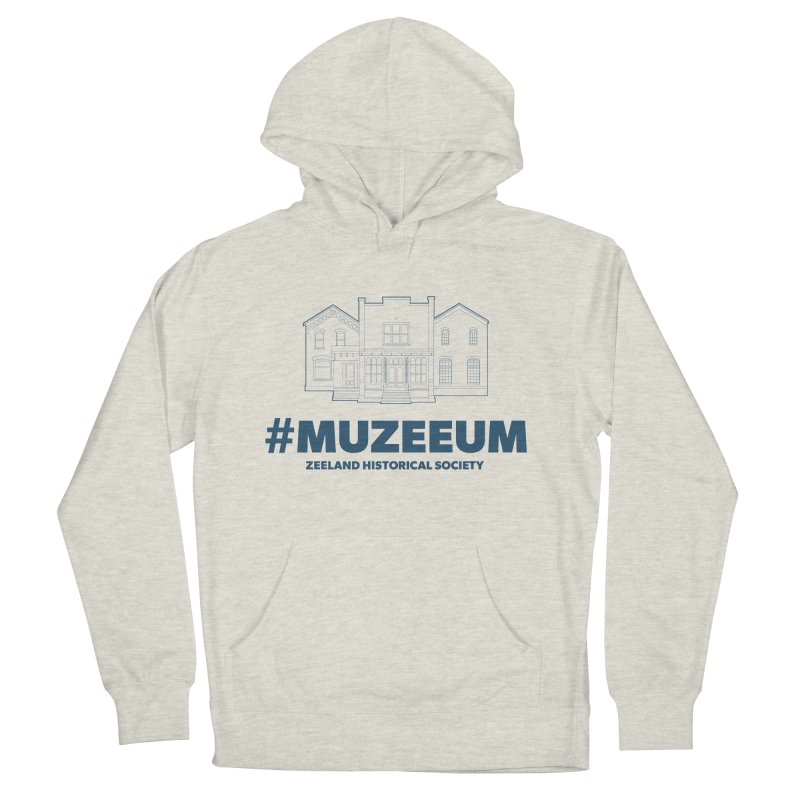 ZHS #muzeeum Women's French Terry Pullover Hoody by Zeeland Historical Society's Online Store