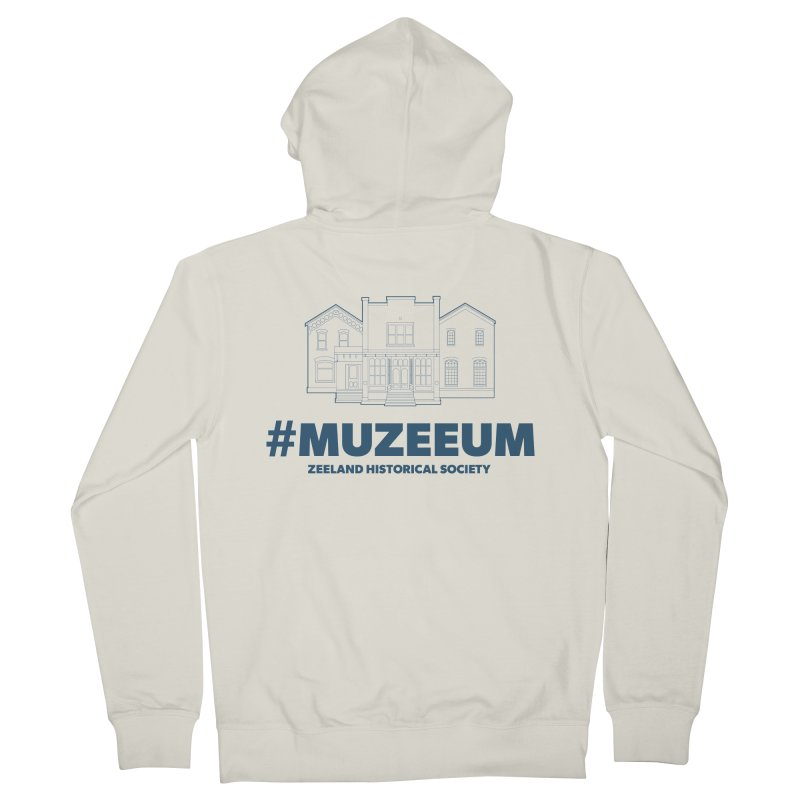 ZHS #muzeeum Men's French Terry Zip-Up Hoody by Zeeland Historical Society's Online Store