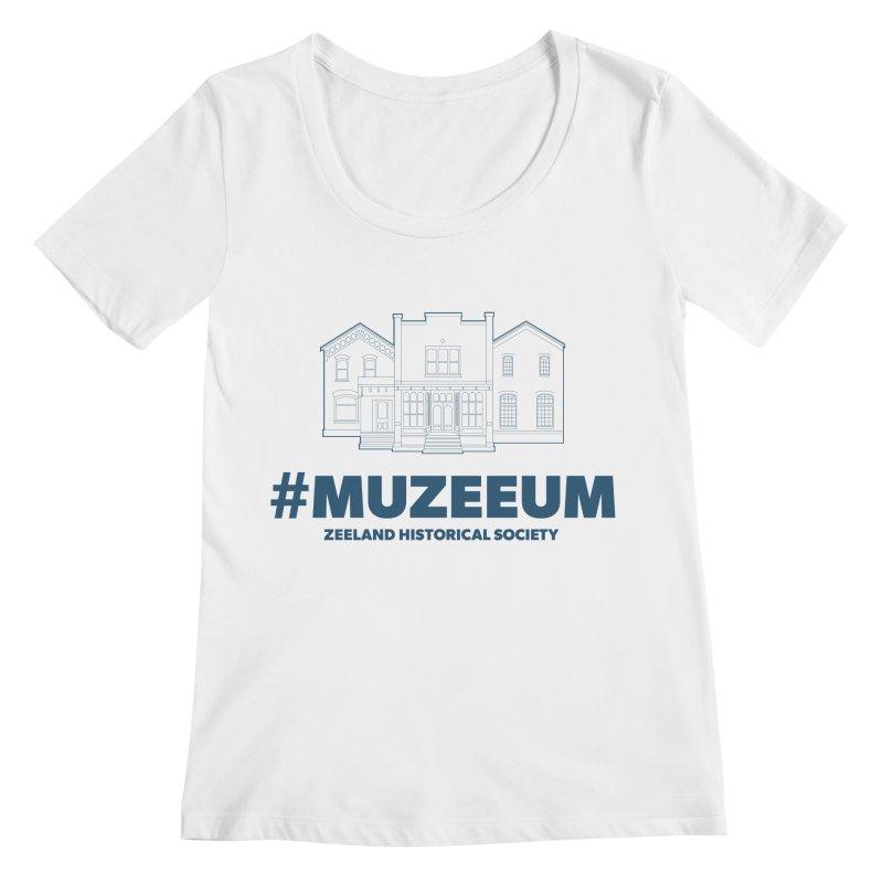 ZHS #muzeeum Women's Regular Scoop Neck by Zeeland Historical Society's Online Store