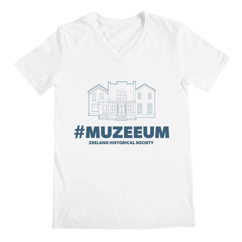ZHS #muzeeum Men's Regular V-Neck by Zeeland Historical Society's Online Store