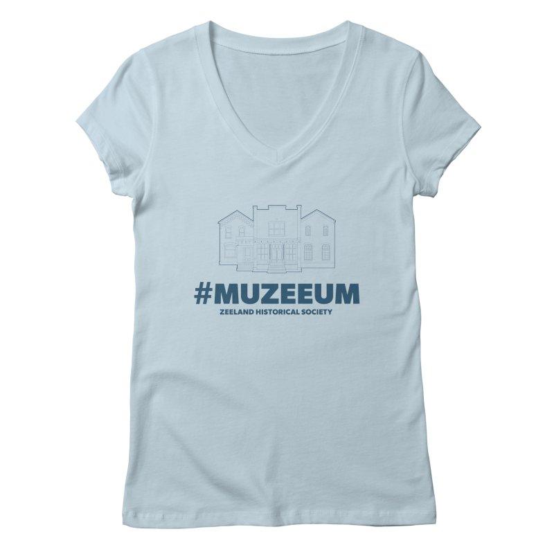 ZHS #muzeeum Women's Regular V-Neck by Zeeland Historical Society's Online Store