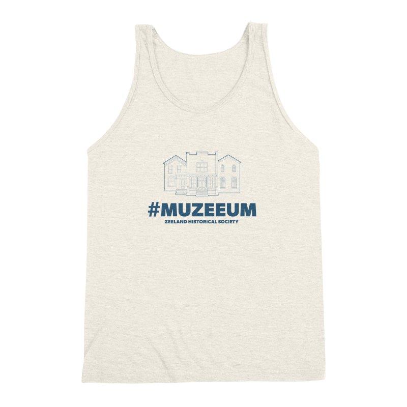 ZHS #muzeeum Men's Triblend Tank by Zeeland Historical Society's Online Store