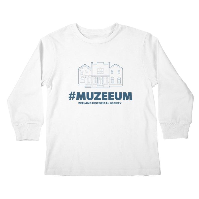 ZHS #muzeeum Kids Longsleeve T-Shirt by Zeeland Historical Society's Online Store