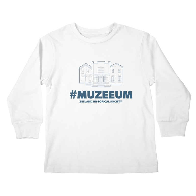 ZHS #muzeeum Kids Longsleeve T-Shirt by Zeeland Historical Society's Online Store
