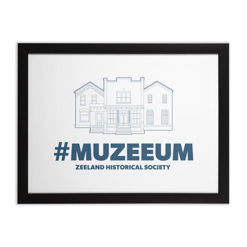 ZHS #muzeeum Home Framed Fine Art Print by Zeeland Historical Society's Online Store