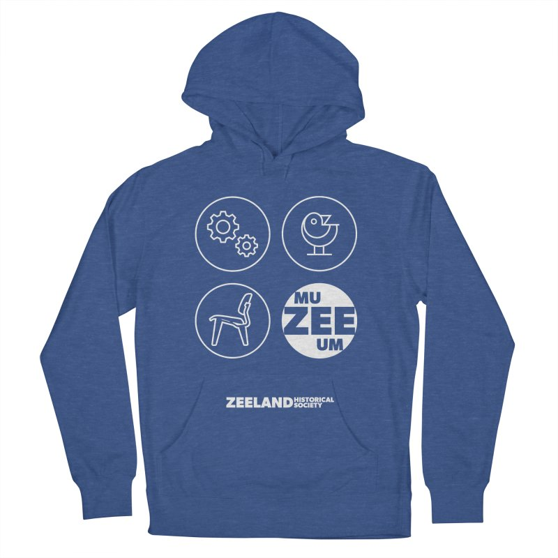MU-ZEE-UM circles (reversed) Women's French Terry Pullover Hoody by Zeeland Historical Society's Online Store